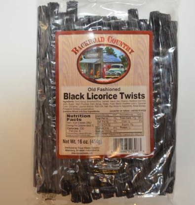 Picture of Amish Farmhouse  Black Licorice Twists 8 oz / 227g