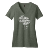 Picture of Women's Perfect Blend®V-Neck Tee in Heathered Olive